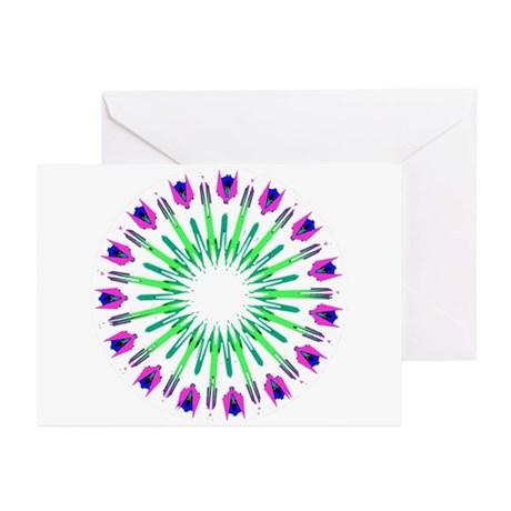 Kaleidoscope 003c Greeting Cards (Pk of 10)