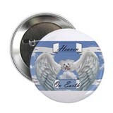 "Cute Angel and maltese 2.25"" Button (100 pack)"