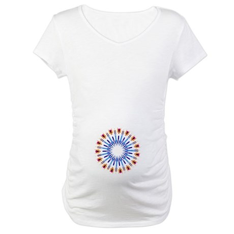 Kaleidoscope 003d Maternity T-Shirt