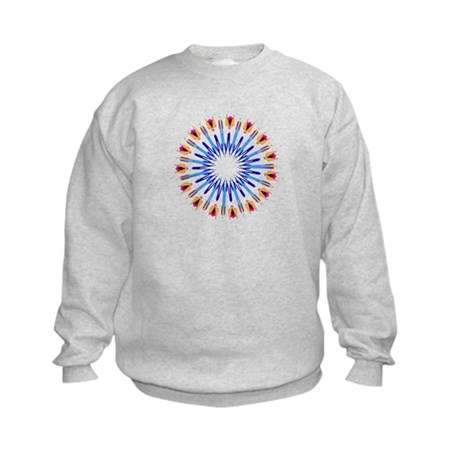 Kaleidoscope 003d Kids Sweatshirt