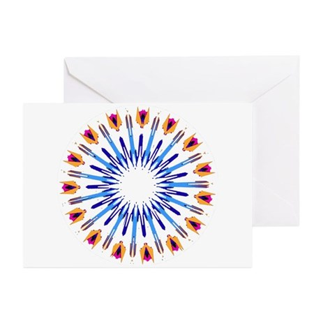 Kaleidoscope 003d Greeting Cards (Pk of 20)