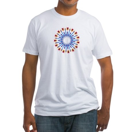 Kaleidoscope 003d Fitted T-Shirt