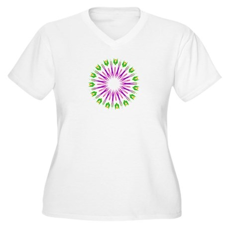Kaleidoscope 003e Women's Plus Size V-Neck T-Shirt