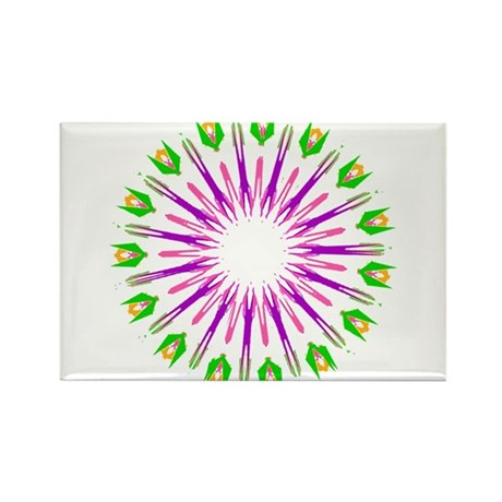Kaleidoscope 003e Rectangle Magnet (10 pack)