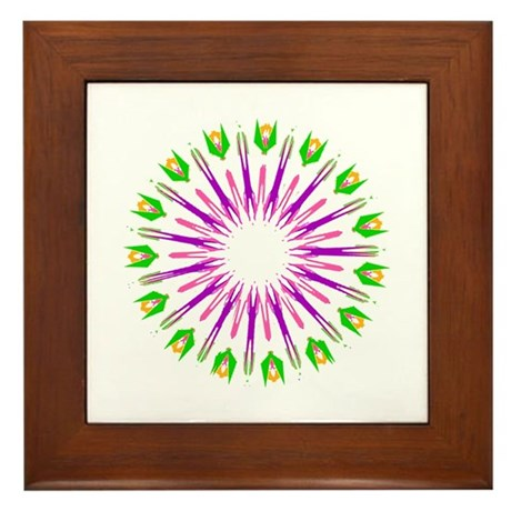 Kaleidoscope 003e Framed Tile
