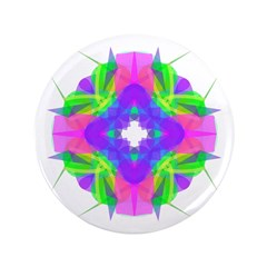 "Kaleidoscope 001a 3.5"" Button (100 pack)"
