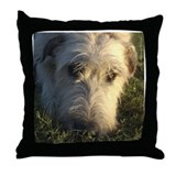 Irish Wolfhound Thinking Throw Pillow