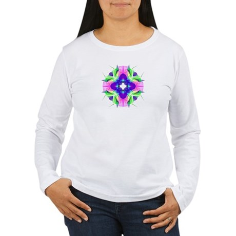 Kaleidoscope 001b Women's Long Sleeve T-Shirt