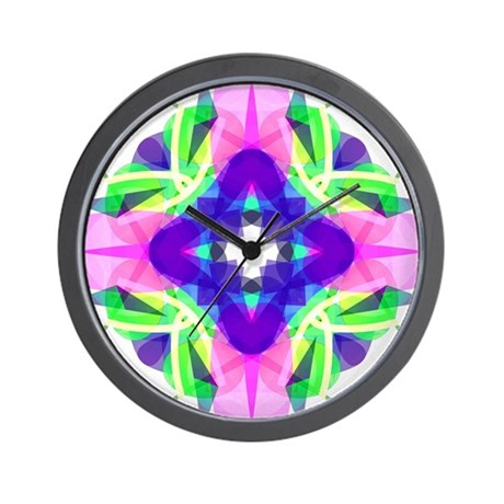 Kaleidoscope 001b Wall Clock