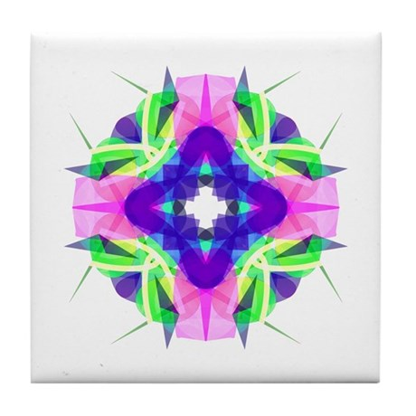 Kaleidoscope 001b Tile Coaster