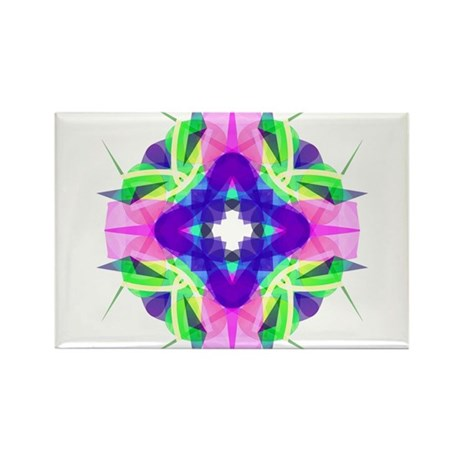 Kaleidoscope 001b Rectangle Magnet (10 pack)
