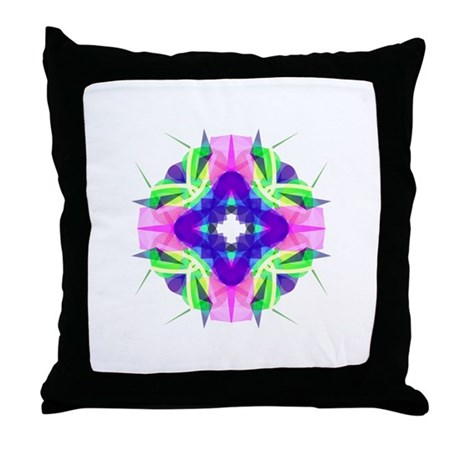 Kaleidoscope 001b Throw Pillow