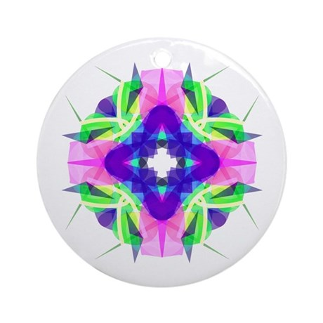 Kaleidoscope 001b Ornament (Round)