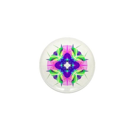 Kaleidoscope 001b Mini Button (10 pack)