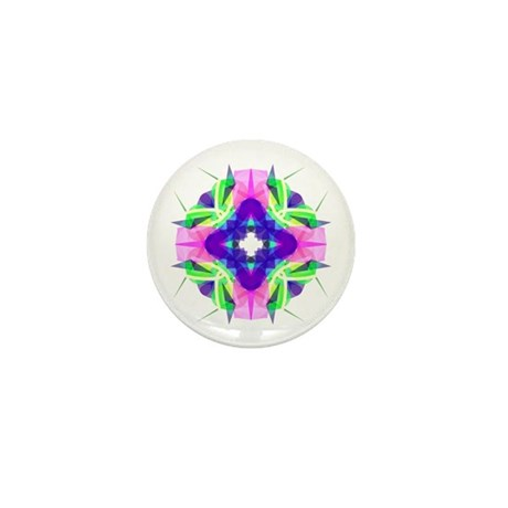 Kaleidoscope 001b Mini Button