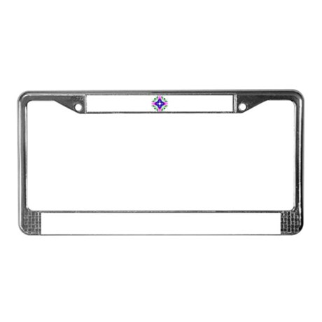 Kaleidoscope 001b License Plate Frame