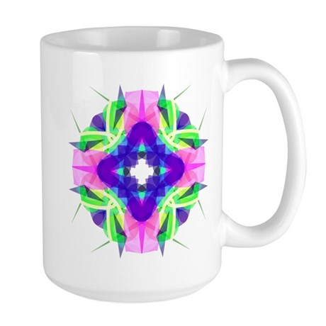 Kaleidoscope 001b Large Mug