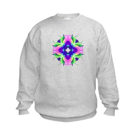 Kaleidoscope 001b Kids Sweatshirt