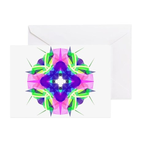 Kaleidoscope 001b Greeting Cards (Pk of 10)