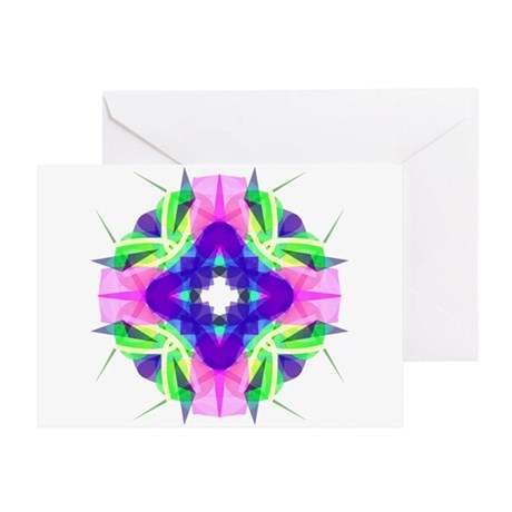 Kaleidoscope 001b Greeting Card