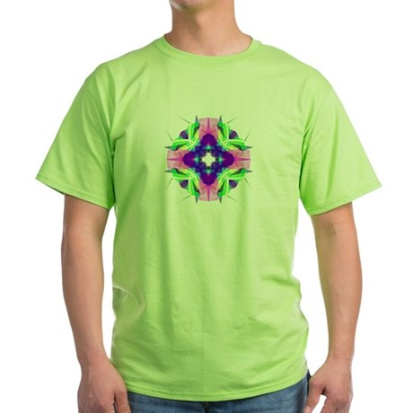 Kaleidoscope 001b Green T-Shirt