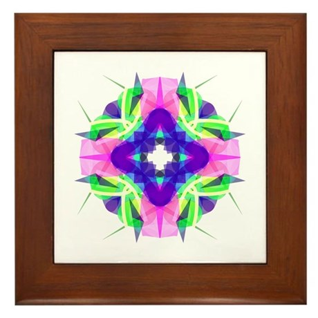 Kaleidoscope 001b Framed Tile