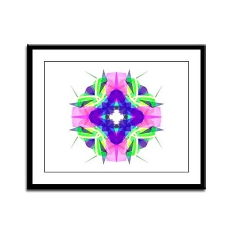 Kaleidoscope 001b Framed Panel Print