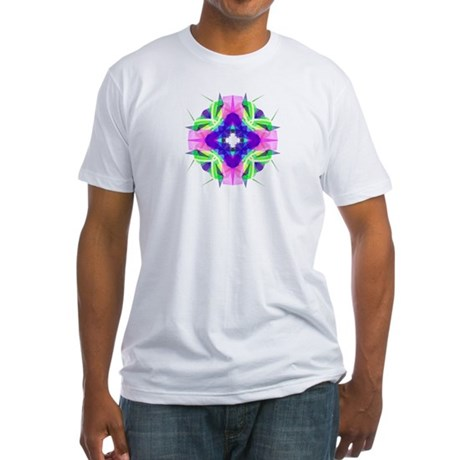 Kaleidoscope 001b Fitted T-Shirt