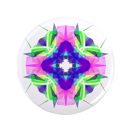 "Kaleidoscope 001b 3.5"" Button"