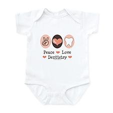 Peace Love Dentistry Dentist Infant Bodysuit