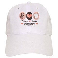 Peace Love Dentistry Dentist Baseball Cap