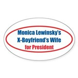 Monica's X - Oval Decal