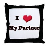 My Partner Throw Pillow