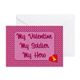My Valentine, My Soldier Greeting Cards (Pk of 10)