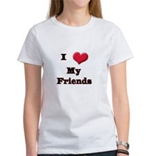 I Love (Heart) My Friends Tee