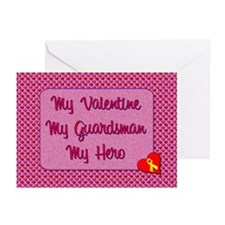 My Valentine, My Guardsman Greeting Cards (Pk of 2