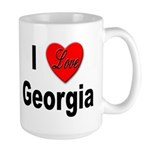 I Love Georgia Large Mug