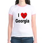 I Love Georgia (Front) Jr. Ringer T-Shirt