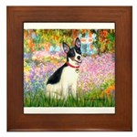 Garden / Rat Terrier Framed Tile