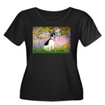 Garden / Rat Terrier Women's Plus Size Scoop Neck
