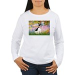 Garden / Rat Terrier Women's Long Sleeve T-Shirt
