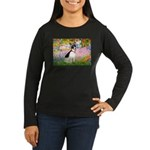 Garden / Rat Terrier Women's Long Sleeve Dark T-Sh