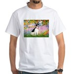 Garden / Rat Terrier White T-Shirt
