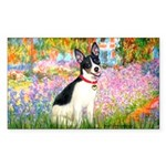 Garden / Rat Terrier Sticker (Rectangle)
