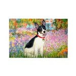 Garden / Rat Terrier Rectangle Magnet