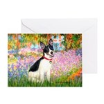 Garden / Rat Terrier Greeting Card
