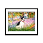 Garden / Rat Terrier Framed Panel Print