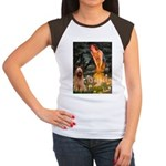 Fairies / Briard Women's Cap Sleeve T-Shirt