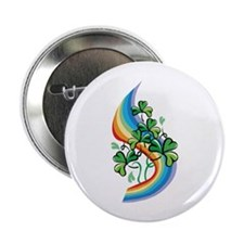 "Rainbow and Shamrocks 2.25"" Button (10 pack)"