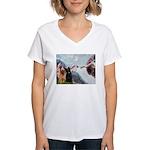 Creation / Briard Women's V-Neck T-Shirt